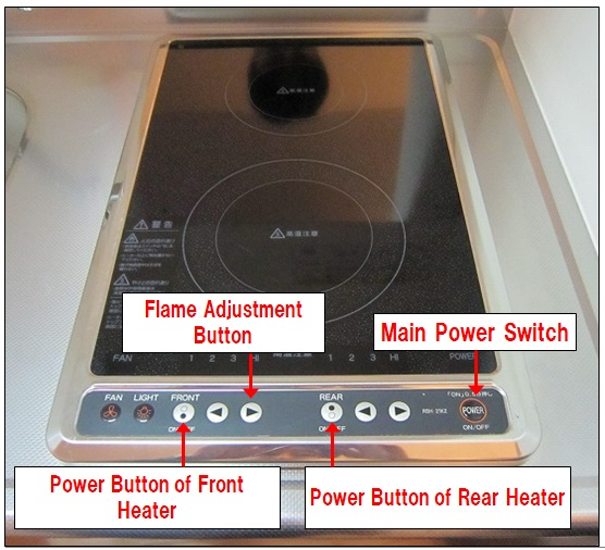 A cooktop with built-in operation panel