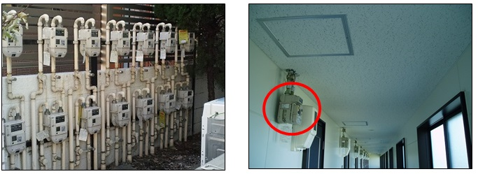 The location of the gas meter2